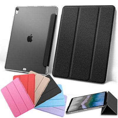 For Apple iPad Pro 11'' Inch 2018 Magnetic Soft Silk Leather Smart Cover Case