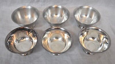 Set of 6 Vintage Reed & Barton Ice Cream Bowls Paul Revere Design #14