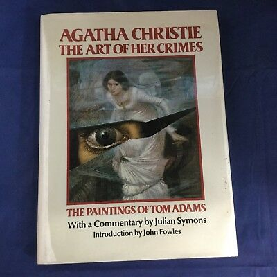 Agatha Christie the Art of Her Crimes - Rare Vintage Book 1981 - Illustrated