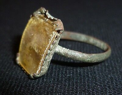 ROMAN Artifact - Bronze RING with Gem - Circa 100-300 AD        /410