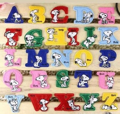 Letter Patch Patches Children Iron on / Sew on Retro Alphabet Embroidery Clothes