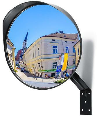 "Premium Convex Mirror Adjustable 12"" Curved Security Mirror for Indoor - Outdoor"