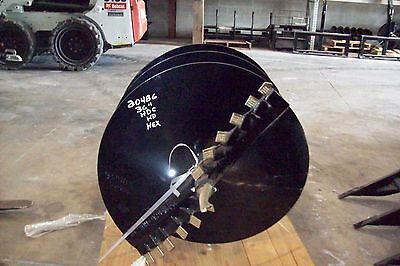 """36"""" x 4' Skid Steer Auger Bit, McMillen HDC, For Difficult Digging, 2"""" Hex Drive"""