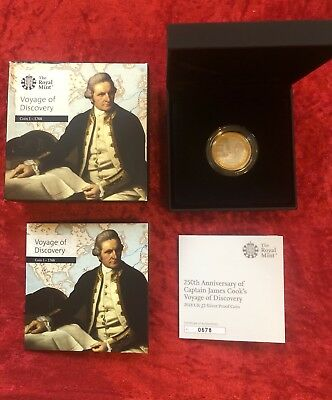 Captain Cook 2018 UK £2 Silver Proof Coin