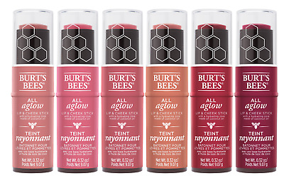 (1) Burts Bees All Aglow Lip & Cheek Stick, You Choose
