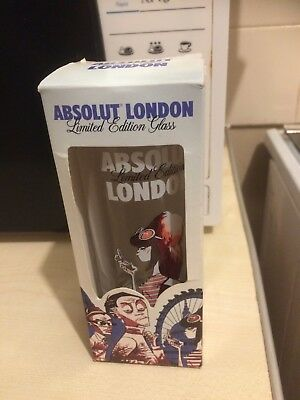 New - Absolut London Limited Edition A Jamie Hewlett Collaboration Glass