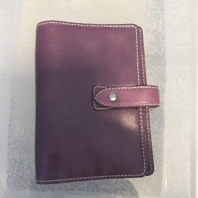 Filofax Personal Size Malden Organizer- Purple Leather