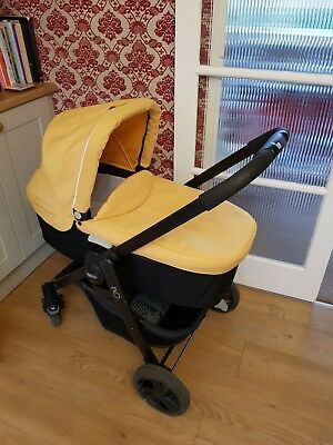 Graco evo travel system yellow - pushchair, carry cot, car seat, stroller