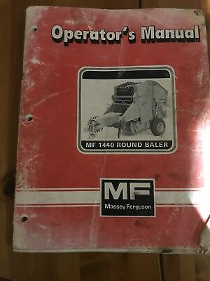 Mf1440 Round Baler Operators Mannual Tractor Manuals & Publications