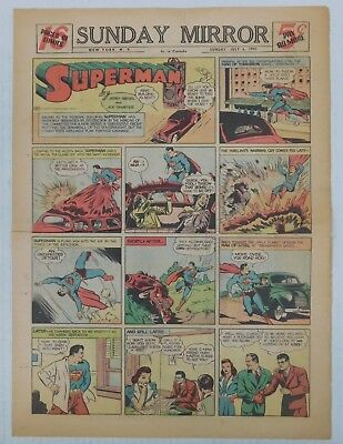 SUPERMAN SUNDAY COMIC STRIP #88 - 1941 Siegel & Shuster Newspaper Clipping