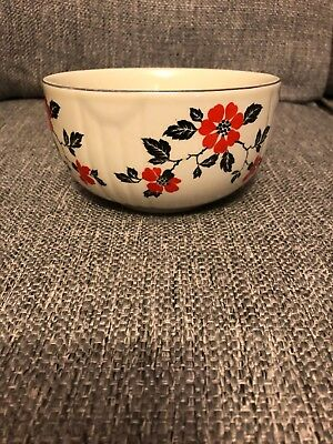 Hall China Red Poppy bowl