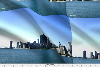Chicago Photography John Hancock Fabric Printed by Spoonflower BTY