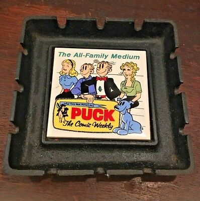 RARE Blondie Dagwood PUCK The COMIC Weekly 1962 Advertisement Iron Ceramic tray