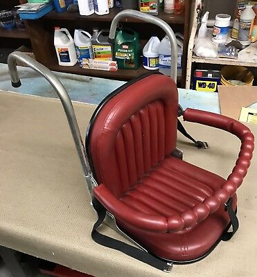 Vintage 50s 60s Baby Child Car Seat -RED-