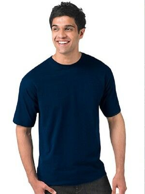 Joblot 12 Russell Jerzees Quality Classic Navy T-Shirts 100% Cotton Size Large