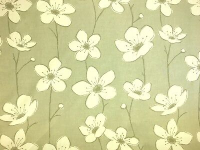 WOW 70% OFF! 100% Cotton Stone Grey Floral Print Curtain Blind Fabric Material