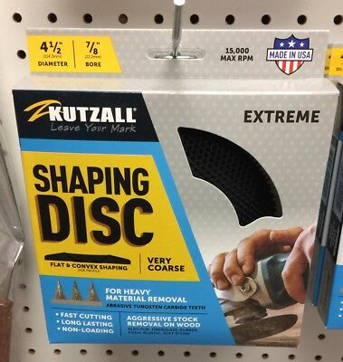 """Kutzall Extreme Shaping Disc - Very Coarse, Tungsten Carbide Coating: 4-1/2"""""""