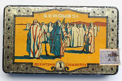 Blechdose Senoussi N° 16 Straw Tipped Reemtsma 25 Cigarettes Zigarettendose alt