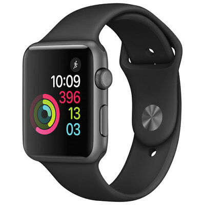 Apple Watch Series 1 42mm Space Grey Aluminum Case with Black Sport Band