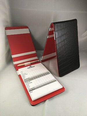 Tour Issue Crocodile Leather Scorecard Holder Black/Red New
