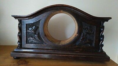 Small Carved Oak Clock Case - Case Only