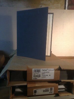 Powis Parker Fastback Hardcovers 11x8.5 Grey SUEDE Thickness A