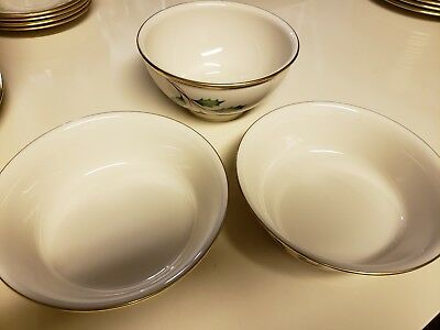 Lenox Holiday China Dimension Collection Set Of Sides/Vegetable Bowls (3 pieces)