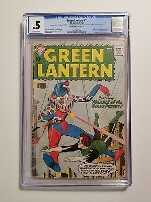 Green Lantern 1 CGC .5 Origin Retold 1st Guardians of the Universe!!!