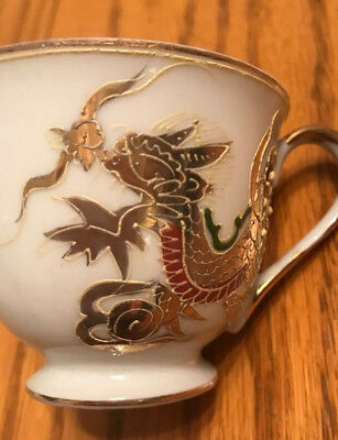 "Vintage Japanes China Cup-Fleetwood-Hand Painted-4 Ounce-2 1/4"" Tall-Sh FREE"