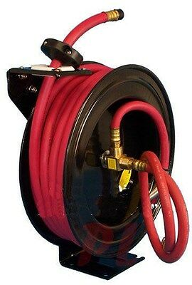 "3/8"" x 50' Retractable Air Hose Reel 300 PSI Truck Wall Ceiling  Mount Mountable"