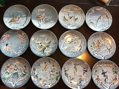 Complete Set of HAVILAND Limoges 12 Days of Christmas Plates NEAR-MINT