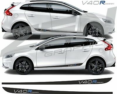 Volvo V40 R Design side Stripes decals stickers any colour Quality fit anycolour