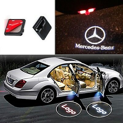 2x LED logo door step courtesy laser projector light For Mercedes-Benz CLA C117