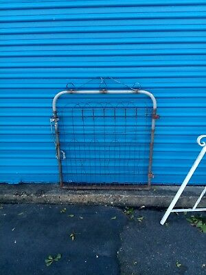 Vintage Primitive Antique Gate Twisted Wire Cottage Style Garden Yard Art Fence
