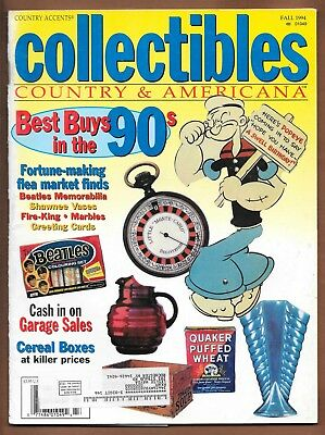 Collectibles Country & Americana Magazine Fall 1994 Popeye Flea Market Finds