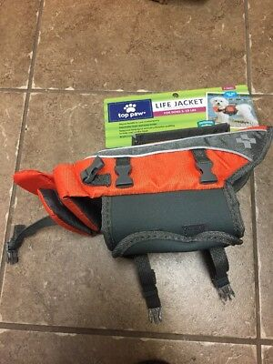 Top Paw Life Jacket For Dogs X-Small 5 to 15 lbs Orange & Gray