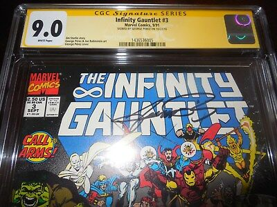 Marvel The Infinity Gauntlet #3 CGC SS 9.0 by Signed by George Perez
