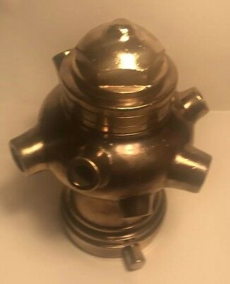 "2 1/2"" ANTIQUE  Solid BRASS FIRE CELLAR NOZZLE  Vintage Fireman's ANTIQUE RARE!"