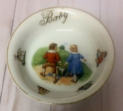 Vintage Ceramic Baby Cereal Bowl Dish Made In Germany - Very Old - Free Shipping