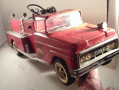 "Original 1960's-vintage (Pressed Steel) ""TONKA ~ FIRE Engine TRUCK""!"