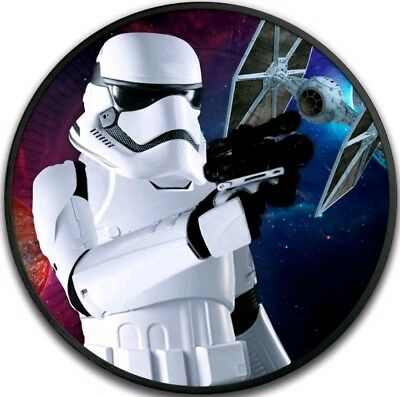 2018 Niue $2 STAR WARS STORMTROOPER SPACESHIP Ruthenium 1 Oz Silver Coin.