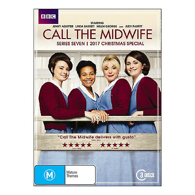 Call the Midwife Series 7 DVD 3 Disc Set Brand New Region 4 Aust.
