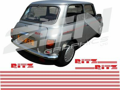 Austin Rover Mini Classic Ritz  edition side pin stripes crests stickers Decals