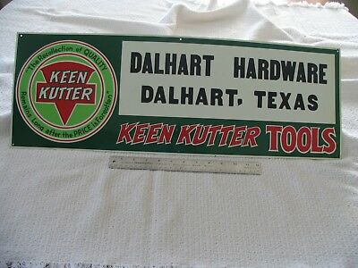 Keen Kutter Metal advertising sign - UNUSED - Perfect Condition
