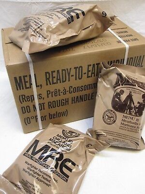 FRESH NEW MEALS READY TO EAT MRE CASE A MENU 1-12 MREs FOOD RATIONS INSP 2020