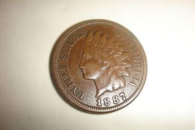 1887 Indian Head Penny Nice Liberty