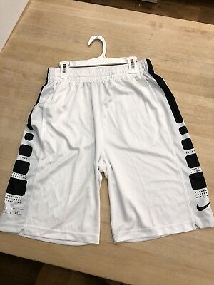 Nike Elite Boys Youth Xl Whote Shorts, NWOT, Never Worn