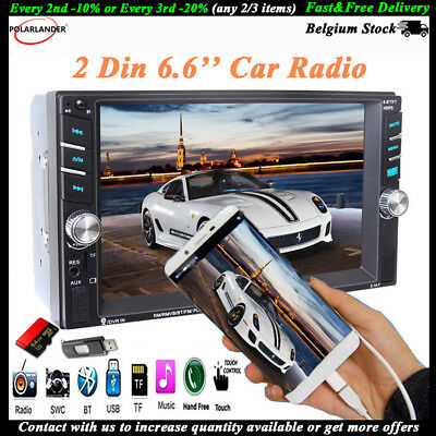 2 Din Touch Screen  Bluetooth  MP5 Player  Stereo  FM  USB/AUX/SD  Car Radio