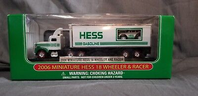 Toy Vehicle - 2006 Hess Miniature 18 Wheeler & Racer - Truck  - Mint in Box