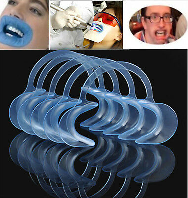 10pcs C-SHAPE Adult Teeth Whitening Intraoral Cheek Lip Retractor Mouth Opener